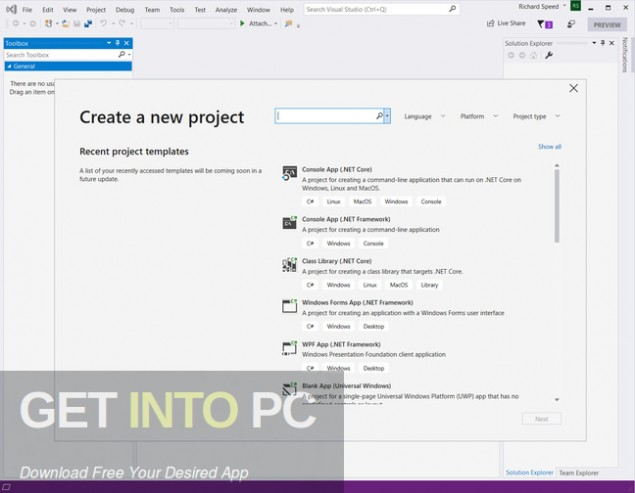 Visual Studio 2019 Latest Version Download-GetintoPC.com