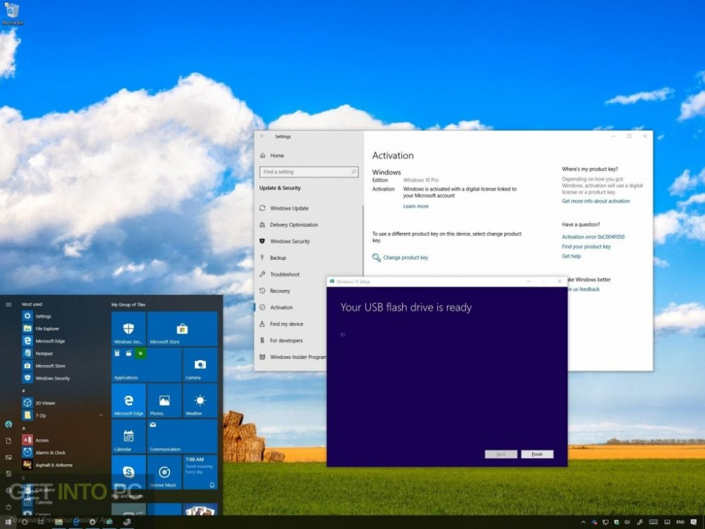 Windows 10 All in One Dec 2018 Direct Link Download-GetintoPC.com