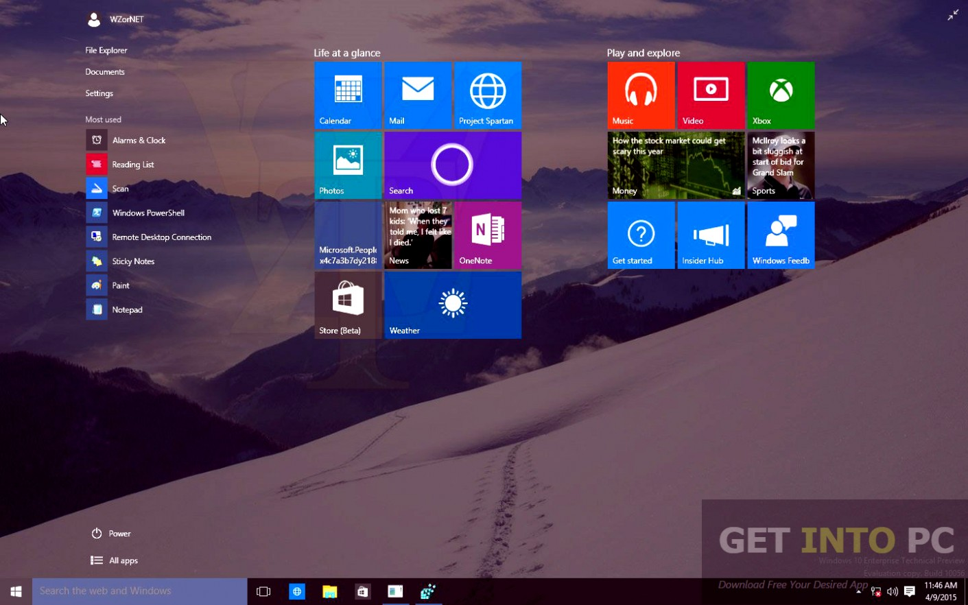 Windows 10 Enterprise Redstone Build 11082 x64 ISO Direct Link Download