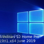Windows 10 Home Pro 19H1 x64 June 2019 Free Download
