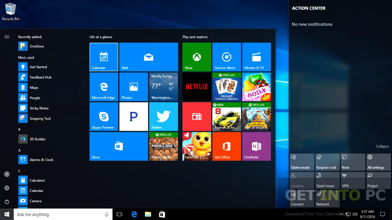 Windows 10 Pro 64 Bit Redstone RS1 14393 July 2016 Direct Link Download