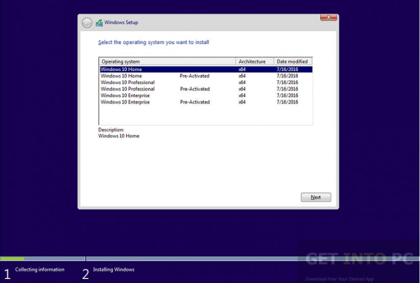 Windows 10 Pro 64 Bit Redstone RS1 14393 July 2016 Latest Version Download