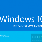 Windows 10 Pro Core x64 v1511 Apr 2016 ISO Free Download