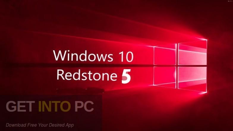 Windows 10 Pro Redstone 5 Mar 2019 Free Download-GetintoPC.com