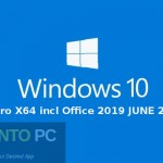 Windows 10 Pro X64 incl Office 2019 JUNE 2020 Free Download