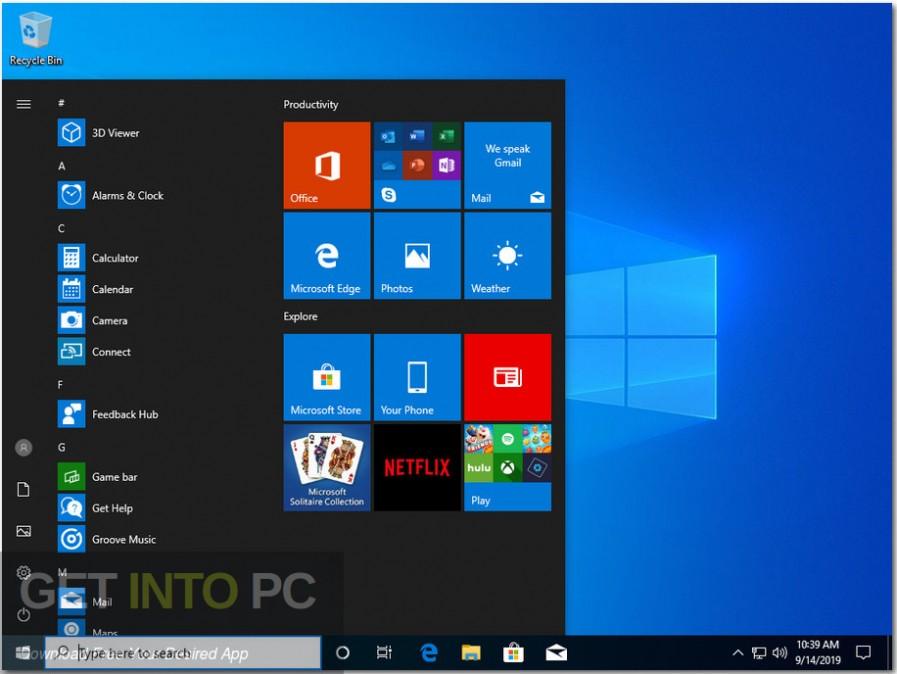 Windows 10 Pro x64 Updated Sep 2019 Free Download - Get ...