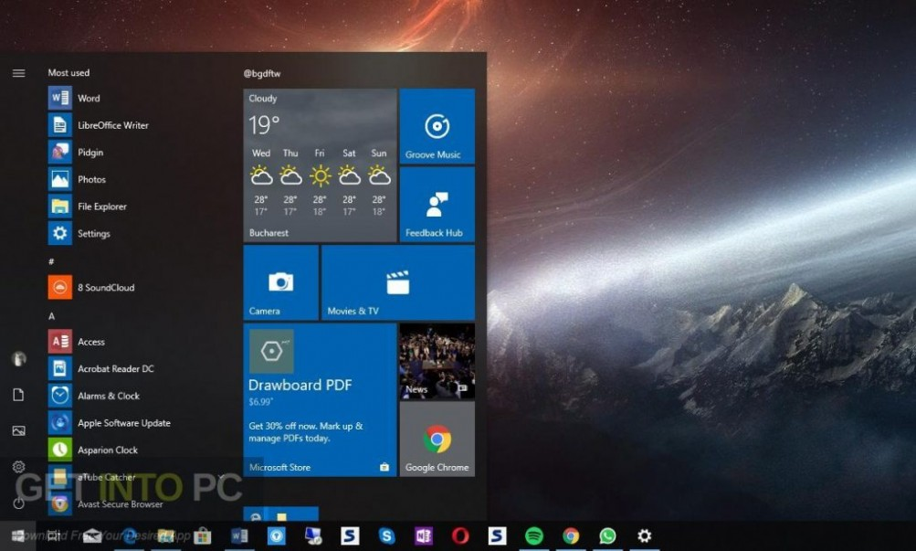 Windows 10 Redstone 5 Oct 2018 Latest Version Download-GetintoPC.com