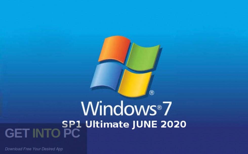 Windows 7 SP1 Ultimate JUNE 2020 Free Download-GetintoPC.com