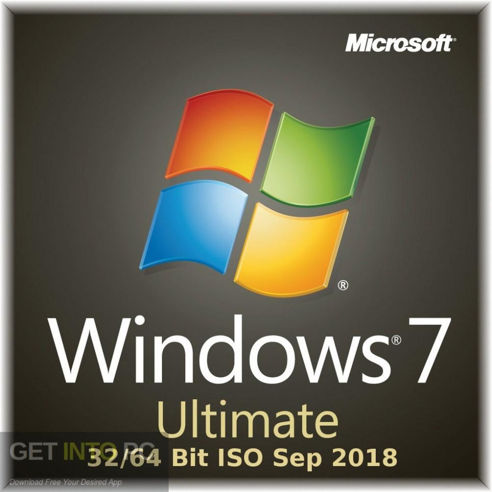 Windows 7 Ultimate 32 64 Bit ISO Sep 2018 Free Download-GetintoPC.com