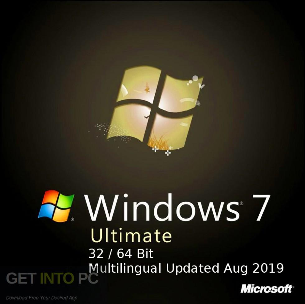 Windows 7 Ultimate 32 64 Bit Multilingual Updated Aug 2019 Free Download-GetintoPC.com
