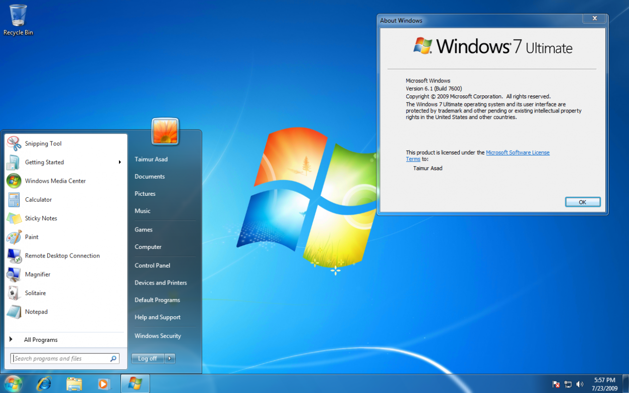 Windows 7 Ultimate ISO 32 Bit 64 Bit Official Free