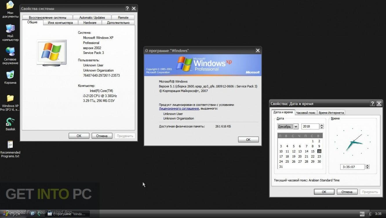 Windows XP Professional SP3 Jan 2019 Direct Link DOwnload-GetintoPC.com