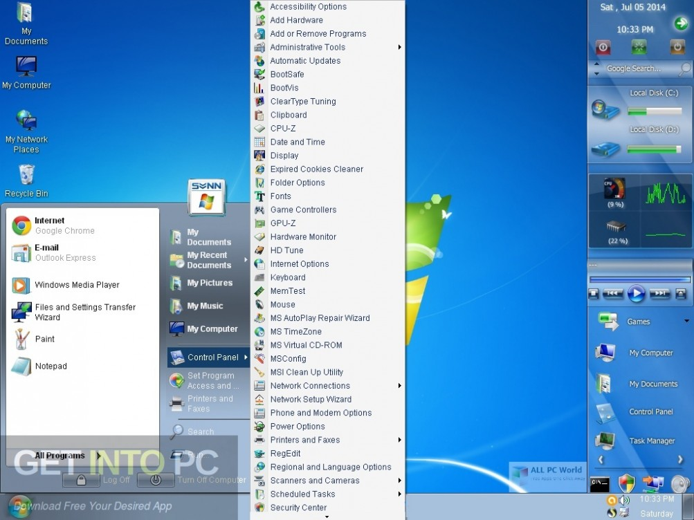 Windows XP Ultimate Edition (by Johnny) Latest Version Download-GetintoPC.com