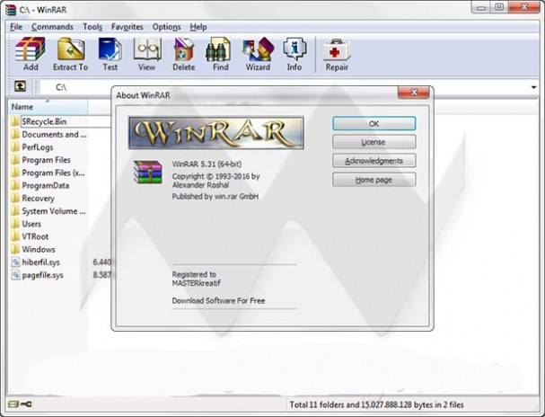 WinRAR 5.31 Final Latest Version Download.